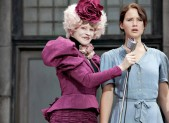 Elizabeth Banks and Jennifer Lawrence in a scene from 'The Hunger Games'