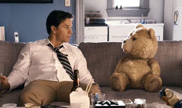 Mark Wahlberg and Ted Photo