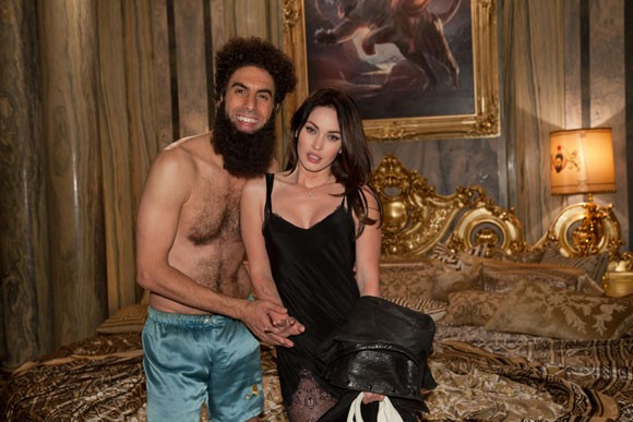 Sacha Baron Cohen and Megan Fox Photo