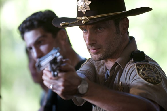 Jon Bernthal and Andrew Lincoln The Walking Dead Photo
