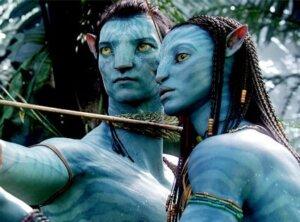 Sam Worthington and Zoe Saldana in 'Avatar'