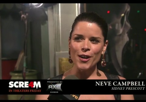 Neve Campbell at the Scream 4 Premiere
