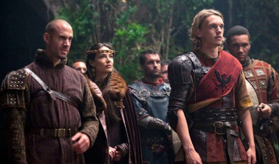 Joseph Fiennes and Jamie Campbell Bower in Camelot