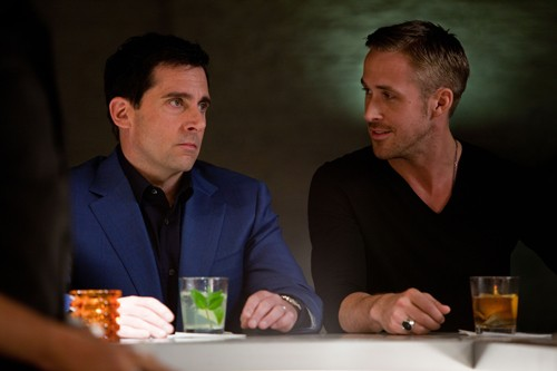 Steve Carell and Ryan Gosling in Crazy, Stupid, Love