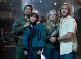 Kyle Chandler, Joe Courtney, Elle Fanning and Ron Eldard in Super 8