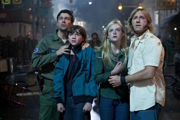 Kyle Chandler, Joe Courtney, Elle Fanning and Ron Eldard in Super 8