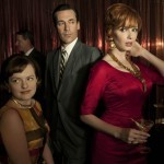 Elisabeth Moss, Jon Hamm and Christina Hendricks in Mad Men