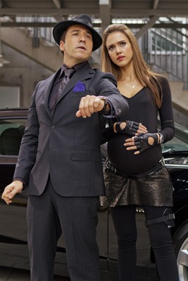Jeremy Piven and Jessica Alba in 'Spy Kids: All the Time in the World'