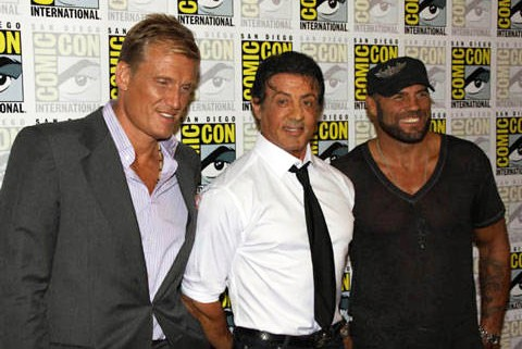 Dolph Lundgren, Sylvester Stallone and Randy Couture