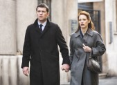 Sam Worthington and Jessica Chastain in 'The Debt'
