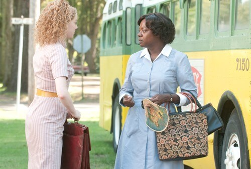 Emma Stone and Viola Davis in The Help