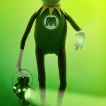 """The Muppets """"Being Green"""" Poster"""