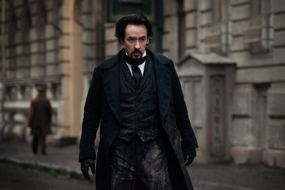 John Cusack as Edgar Allen Poe in The Raven