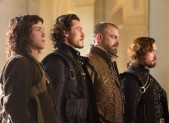 Logan Lerman, Luke Evans, Ray Stevenson, and Matthew Macfadyen in The Three Musketeers