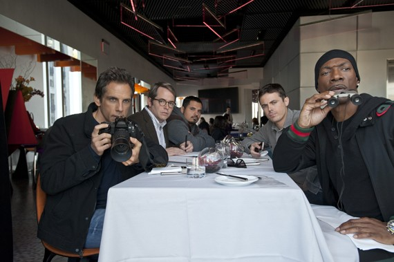 Ben Stiller, Matthew Broderick, Michael Pena, Casey Affleck and Eddie Murphy in Tower Heist