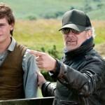 Jeremy Irvine and Steven Spielberg War Horse Photo