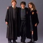 Rupert Grint, Daniel Radcliffe and Emma Watson in Chamber of Secrets