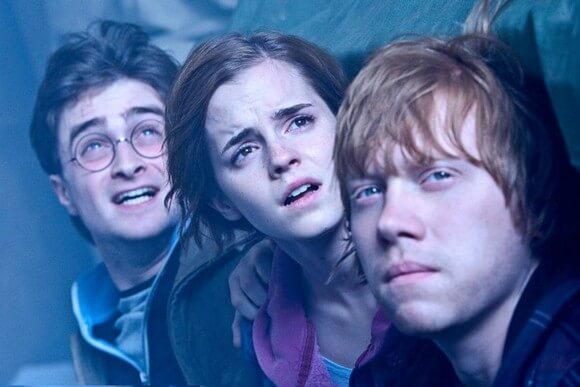 Daniel Radcliffe, Emma Watson and Rupert Grint in Harry Potter and the Deathly Hallows Part 2
