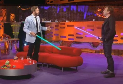 Ewan McGregor and His Light Saber