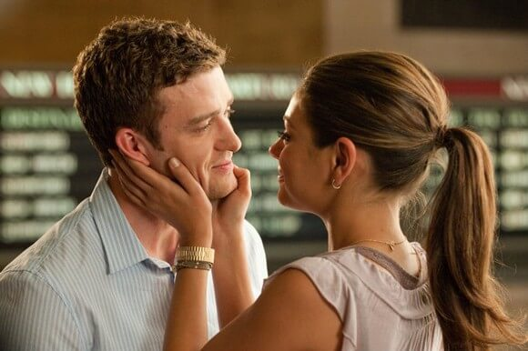 Justin Timberlake and Mila Kunis in 'Friends with Benefits'
