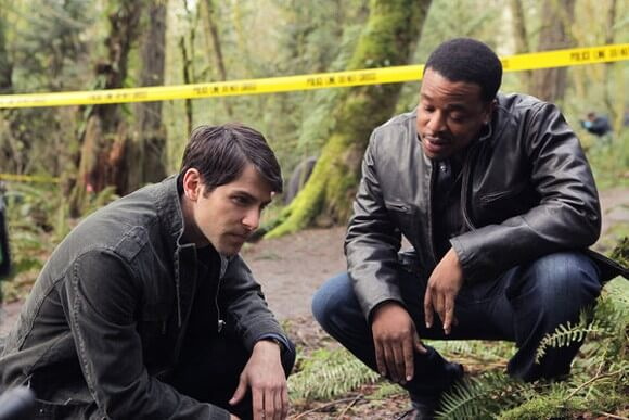 David Giuntoli and Russell Hornsby in Grimm