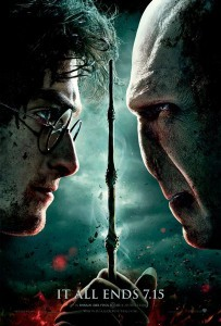 Daniel Radcliffe and Ralph Fiennes Harry Potter and the Deathly Hallows Part 2 Poster