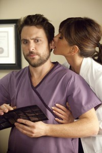 Charlie Day and Jennifer Aniston in 'Horrible Bosses'