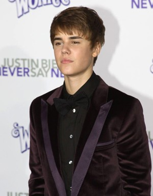 Justin Bieber at the Never Say Never Premiere