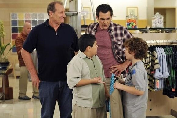 Ty Burrell, Ed O'Neill, Nolan Gould and Rico Rodriguez in Modern Family