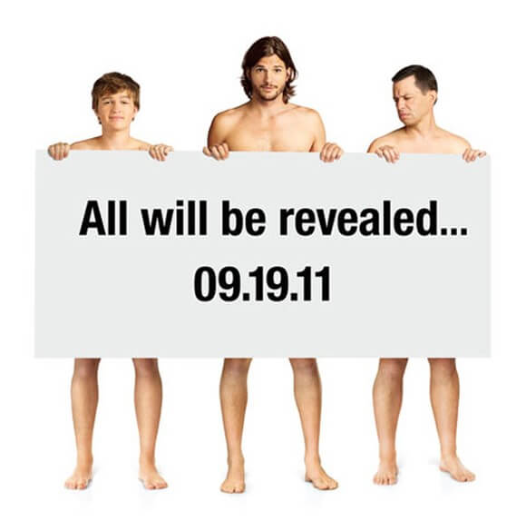 Two and a Half Men 2011 Naked Teaser Poster