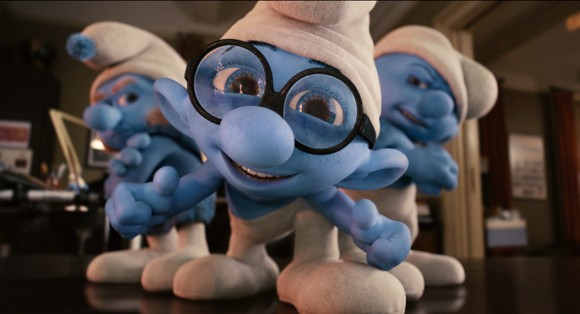 Gutsy, Brainy and Grouchy in The Smurfs