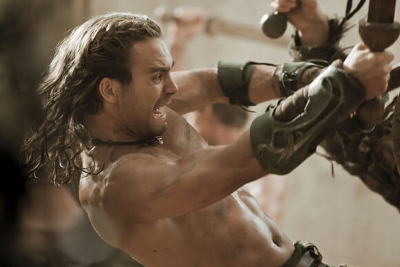 Dustin Clare in Spartacus: Gods of the Arena