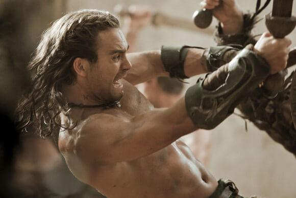 Dustin Clare in Spartacus: Gods of the Arena