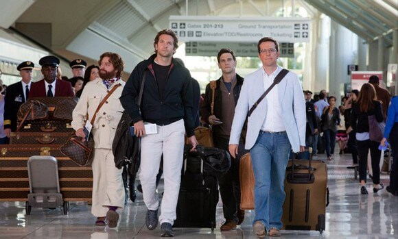 Zach Galifianakis, Bradley Cooper, Justin Bartha and Ed Helms in 'The Hangover 2'