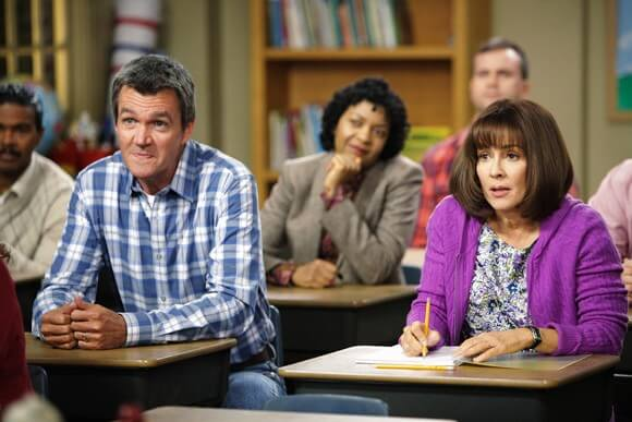 Neil Flynn and Patricia Heaton in The Middle