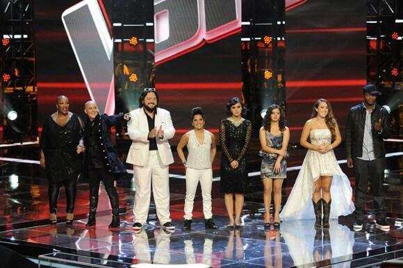 Frenchie Davis, Beverly McClellan, Nakia, Vicci Martinez, Dia Frampton, Xenia, Casey Weston, Javier Colon on 'The Voice'