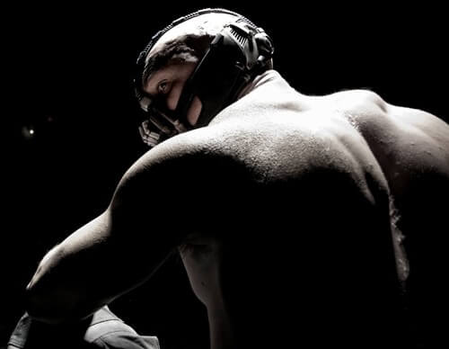 Tom Hardy as Bane in 'The Dark Knight Rises'
