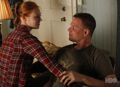 Deborah Ann Woll and Jim Parrack in True Blood