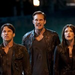 Stephen Moyer, Alexander Skarsgard, and Lucy Griffiths in True Blood