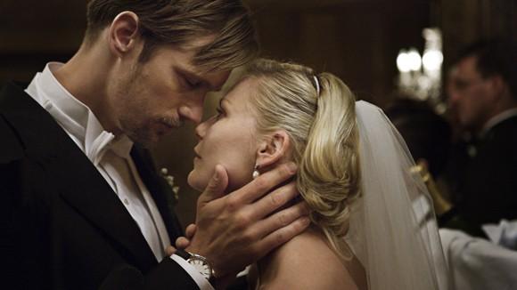 Alexander Skarsgard and Kirsten Dunst in Melancholia