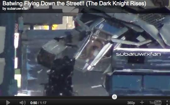 The Dark Knight Rises Batwing Video