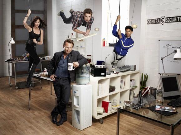Christian Slater, Odette Annable, Bret Harrison and Alphonso McAuley in Breaking Bad