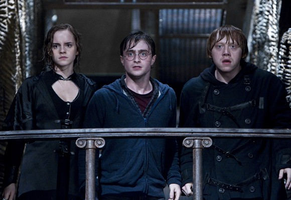 Emma Watson, Daniel Radcliffe and Rupert Grint in Harry Potter and the Deathly Hallows Part 2