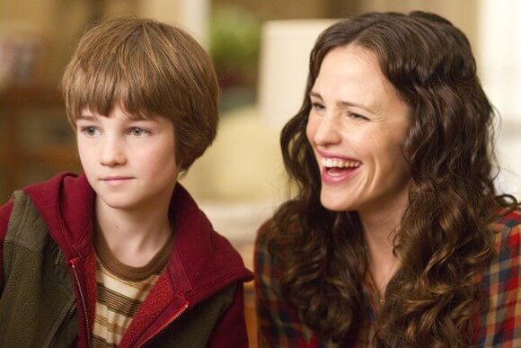 CJ Adams and Jennifer Garner in The Odd Life of Timothy Green