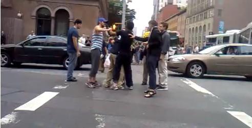 Ryan Gosling Breaks Up a Street Fight