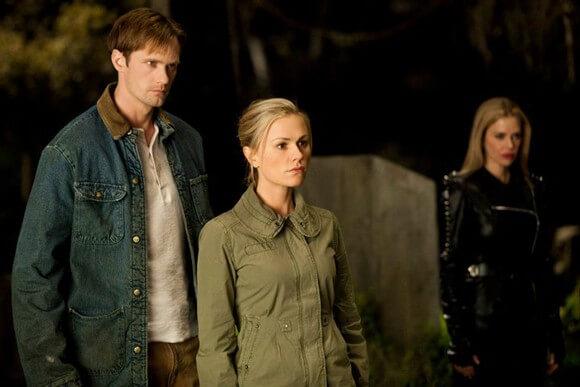 Alexander Skarsgard and Anna Paquin in True Blood Season 4