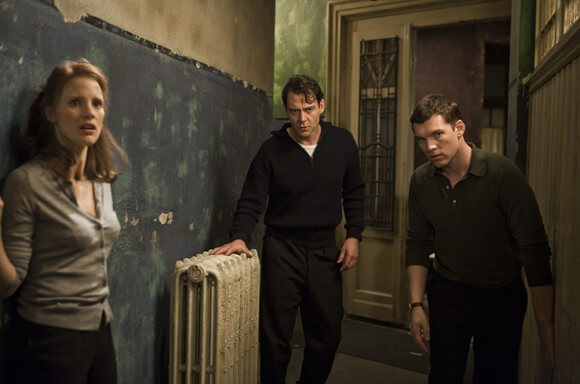 Jessica Chastain, Marton Csokas and Sam Worthington in The Debt