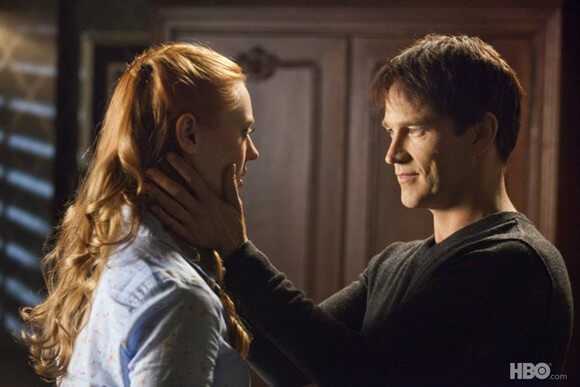 Deborah Ann Woll and Stephen Moyer in True Blood
