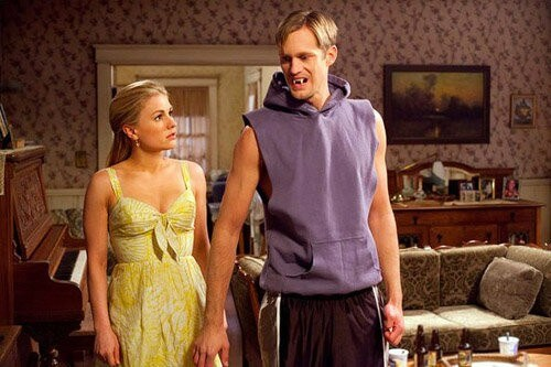 Anna Paquin and Alexander Skarsgard in True Blood Season 4