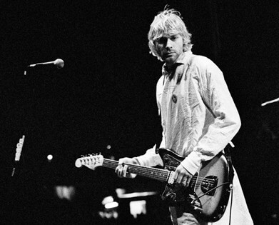 Kurt Cobain at the 1992 Reading Festival